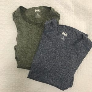2 REI hiking shirts